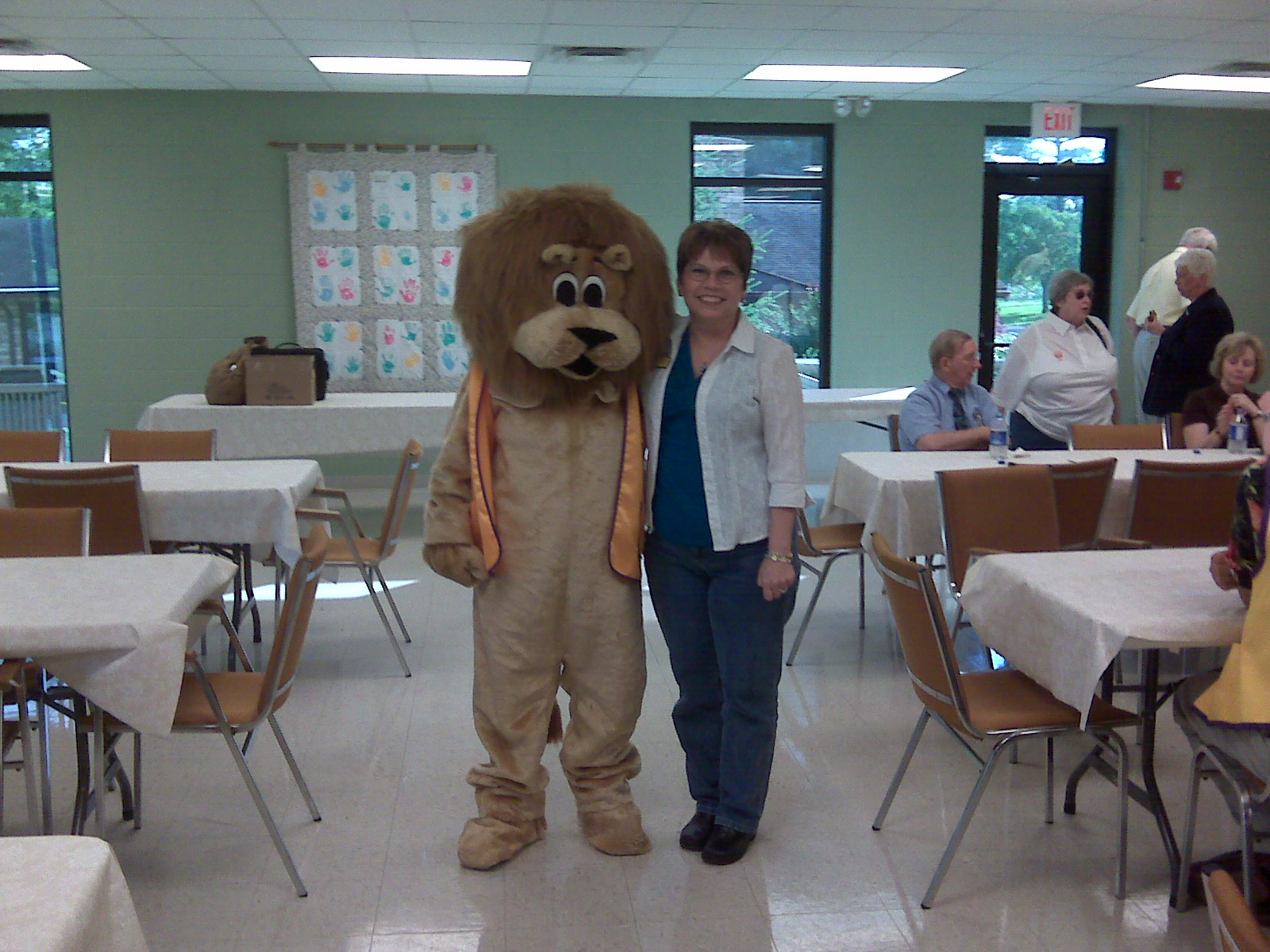 Lions Paws and Diane Wilkerson