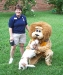 With Lion Wendy Cain and her Dog