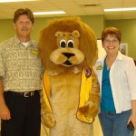 Lions John Black, Paws, and Dianne Wilkerson
