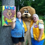 Lion Paws with Halls Lions Doing Face Painting