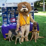 Lion Paws with Search & Rescue Dogs Shatzie and Apache at the Leader Dogs for the Blind Display