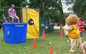 Taking a Shot at the Volunteer Fire Dept. Dunking Booth